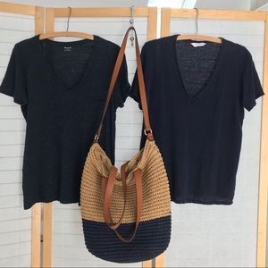 Natty Navy bundle One Madewell tee &  one GAP tote